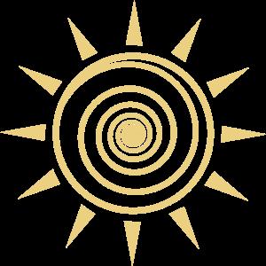 sonne sonnenstrahlen sommer kunst spirale