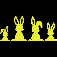 Osterhasen Familie