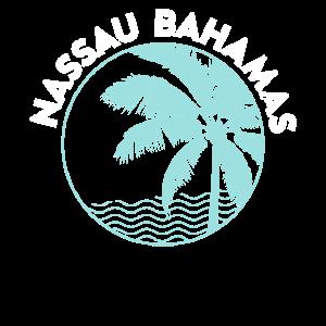 Nassau Bahamas Vintage gedruckt Sonnenuntergang Design