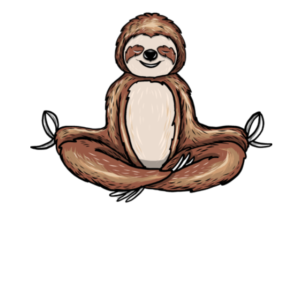 Sloth Meditation Meditating Slow Down Yoga