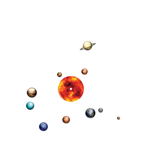 Turntable Solar System Vinyl Planets Moons