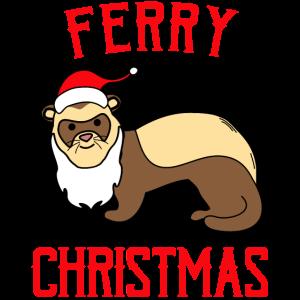 Frettchen Geschenk Weihnachten lustige Sprüche