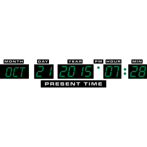 Welcome Back in the Future - 21. Oktober 2015 7:28