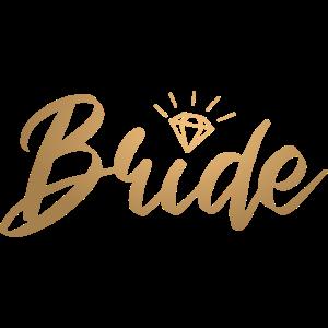 Bride Braut Junggesellenabschied - goldfarbig