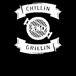 Grill Grillen Fleisch Chillen Geschenk