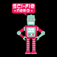 Cooler Sci-Fie Nerd Roboter für Science Nerds