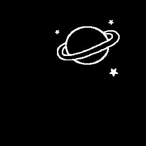 Planet Saturn Umlaufbahn Sterne Weltraum Space