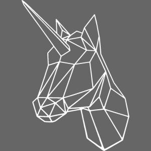 licorne graphique blanche