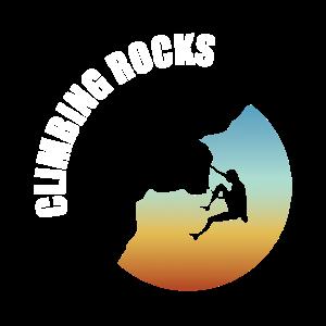 Bouldering Climbing Rocks Chalk Bag Sun Set