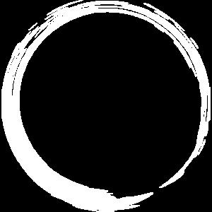 Kreisform Kreis Symbol Design Variante Neu weiß