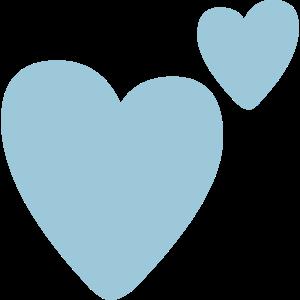 Blaue Herzen