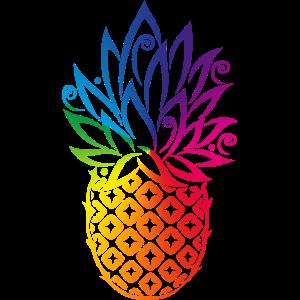 Ananas Regenbogen Sommer Frucht CSD LGBT