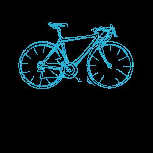 Rennrad Herren Fahrrad Skizze Radsport