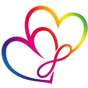 Zwei Herzen Regenbogen Infinity Love CSD LGBT