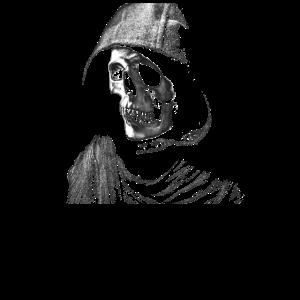 Skull mit Hoodie