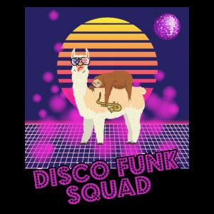 Disco Funk Squad Tanzen Party 70s Lama Faultier