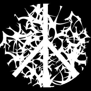 Abstrakt Peace Symbol Frieden Zeichen Vogelschwarm