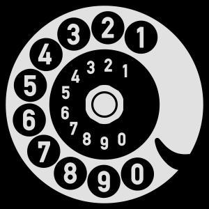 Vintage Telefon Retro nostalgische Wählscheibe alt