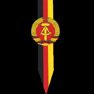 DDR Flagge | vintage Geschenk DDR Retro Ostalgie