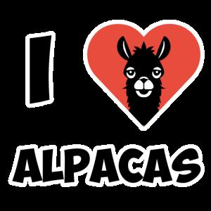 Tier I Love Alpacca Lama Herz Damen Herren Kinder