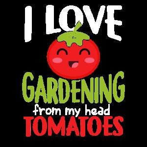 Garten Arbeit Tomate mit Spruch