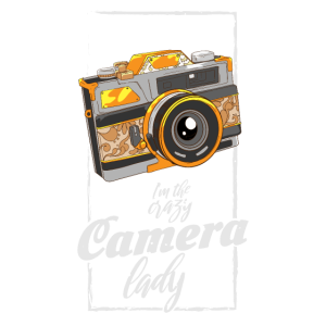 I'm the crazy camera Lady Fotograf Kamera Geschenk