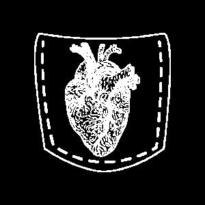 Herz in der Tasche Pocket Geschenk