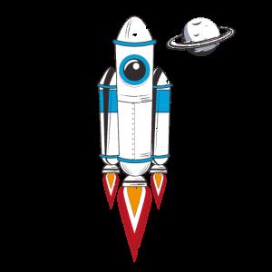 Rakete Tasche Pocket Geschenk