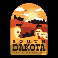 South Dakota Tshirt mit Mount Hillmore
