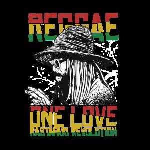 Reggae one Love T-Shirt Rastafari Revolution