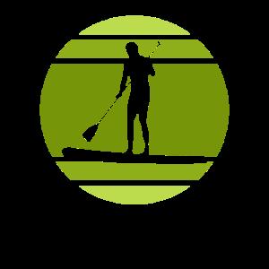 Paddelboot stehend paddeln