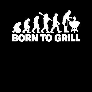 Geboren zum Grillen Chef Grillmeister Grill Kochen