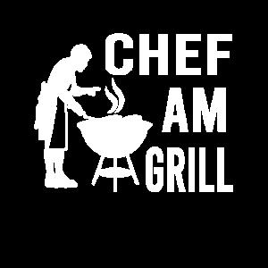 Chef am Grill Grillen Grillsaison Griller Chefkoch