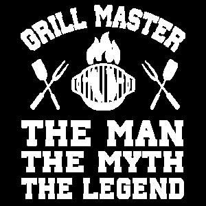 Grill Meister Man Myth Legend Grillen Grillsaison