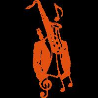 Saxophon suit Charakter
