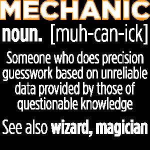 Mechanic - Definition Lustiger Spruch