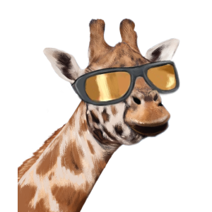 Was ist los Lustige Giraffe Zitat Wildtiere Tieris