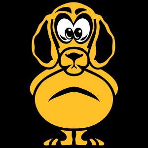Hundekopf, der Tierkind zeichnet
