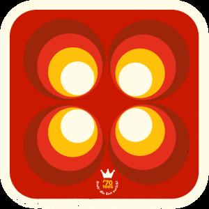 70er Bierdeckel Muster Kreise