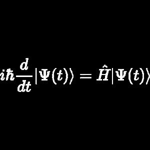 Schrödingergleichung - Zeitabhängig - weiß