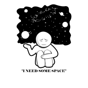 """Lustiges Nerd Humor Science T-Shirt """"I NEED SPACE"""""""