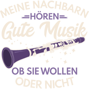Klarinettist Klarinette Meine Nachbarn Orchester