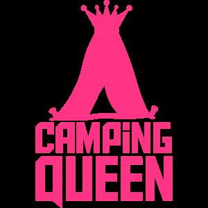 Camping Queen Königin Zelt Logo