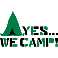 yes we camp logo design