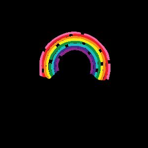 Regenbogen-Gebirgssonnenuntergang
