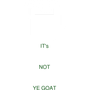 IT's PADDY NOT PATTY YE GOAT