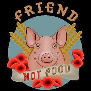Schwein Bauernhof Vegan Tierfreund Geschenkidee
