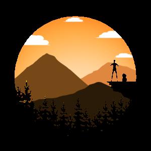 Sonnenaufgang Berge Wald