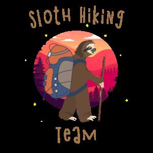 Sloth Hiking Team Faultier Wandern Wanderlust