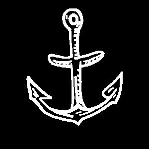 anker einfach linien weiss schiff boot